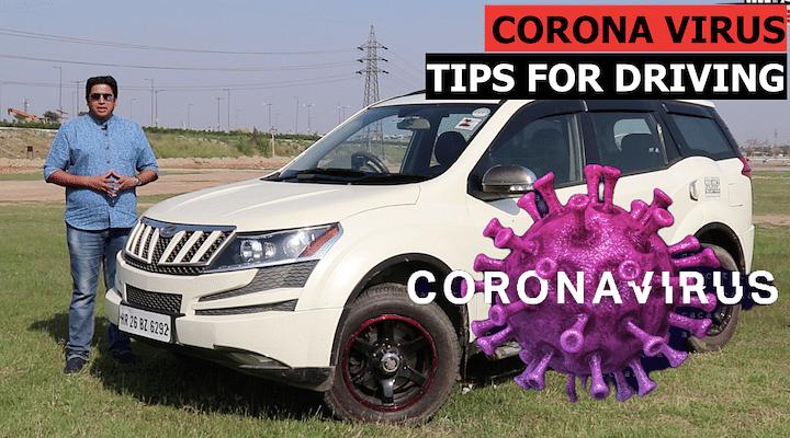 corona virus while driving
