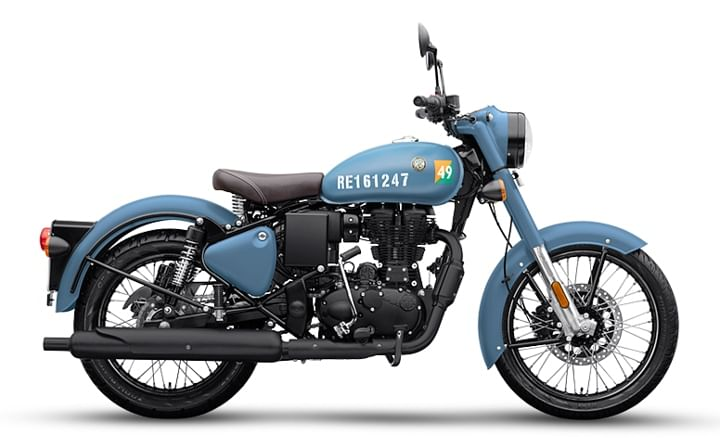 2020 royal enfield classic 350 signals blue bs6 price