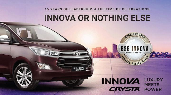 toyota innova crysta bs6 price in india
