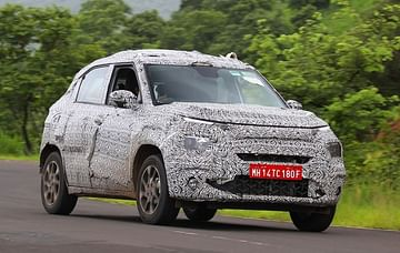 upcoming cars in India 2021-2022 - Tata HBX Front Profile Spy Shot