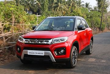 upcoming cars in India 2021-2022 - honda n7x images front three quarters - maruti vitara brezza