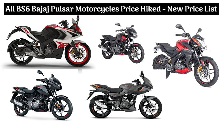 All BS6-compliant Bajaj Pulsar Motorcycles Price Hiked - Check Out The New Price List