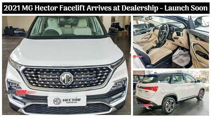 2021 MG Hector Facelift BS6 Spied at Dealership; Launch Soon - All Details
