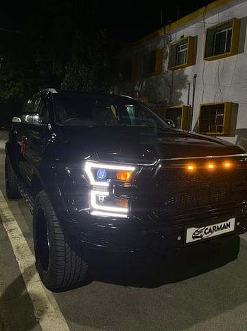 Ford Endeavour Modified Into Raptor Front Side Profile