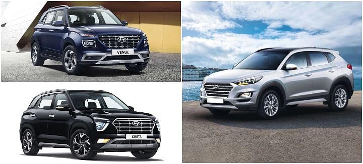 Hyundai Venue, Creta and Tucson