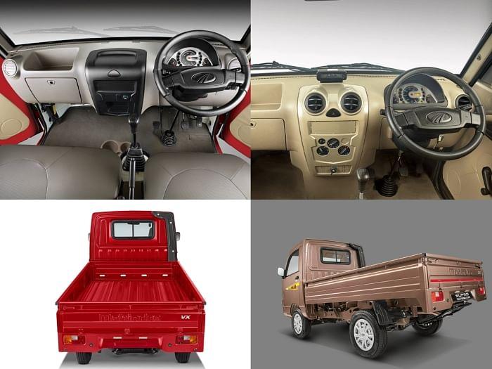 Mahindra Supro Profit Truck interior and flatbed