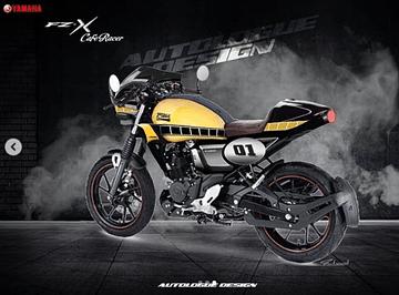 Yamaha FZ-X Custom Cafe Racer taillight image