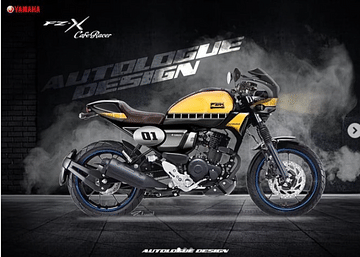 Yamaha FZ-X Custom Cafe Racer side view