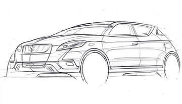 Maruti S Cross 2022 concept drawing