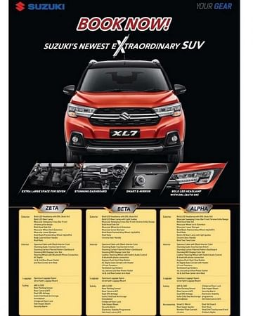 Suzuki XL7 and XL6 brochure