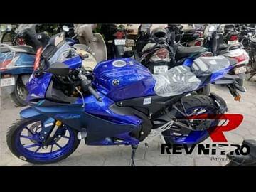 yamaha r15m side profile images blue