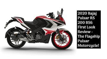 2020 Bajaj Pulsar Rs 200 Bs6 First Look Review The Flagship Pulsar Motorcycle