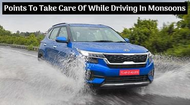 Top Six Points To Take Care Of While Driving In Monsoons - All Details